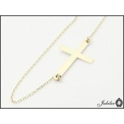 Złota bransoletka celebrytka - krzyżyk (31408,31409,31410)