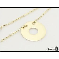 Złota bransoletka - celebrytka - pierścień ring (31416,31417)