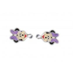 Srebrne kolczyki dla dzieci typu myszka Mini