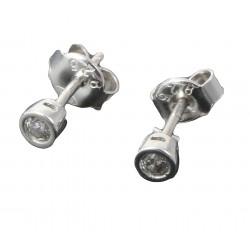Kolczyki srebrne p. 925 kółka sztyft cyrkonia  7236216755