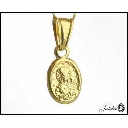 Piękny ZŁOTY medalik MATKA BOSKA p.585  7422245811