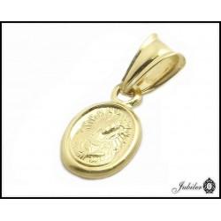 Złoty medalik zawieszka Matka Boska próba 585  7547685083