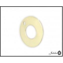 ZŁOTA zawieszka celebrytka pierścień ring 585 10mm  7046001811