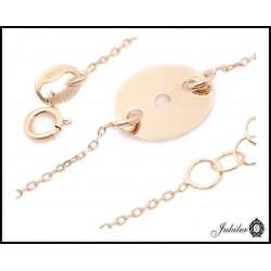 Złota bransoletka celebrytka koło (26306)
