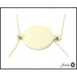 Złota bransoletka koło celebrytka (27173)