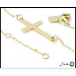 Złota bransoletka - celebrytka - krzyżyk