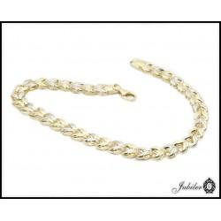 Piękna złota bransoletka zdobiona rodowaniem (31084,31083)