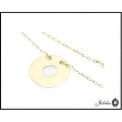 Złota bransoletka - pierścień ring