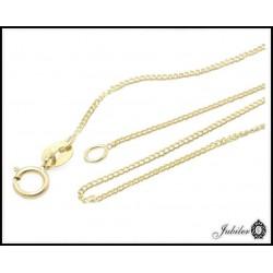 Złoty łańcuszek - splot pancerka (32467)