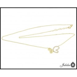 Złoty naszyjnik z motylem (27133)