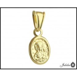 ZŁOTY 14K medalik zawieszka Matka Boska 7 x 9 mm  7547968169