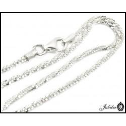 Srebrny łańcuszek rodowany (29393)