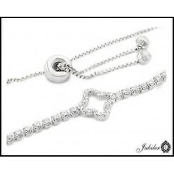 Piękna SREBRNA bransoletka zdobiona cyrkoniami 925   6996765932