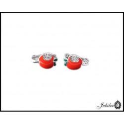 Srebrne kolczyki dla dzieci typu Jabłka 7224716242