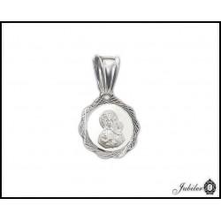 SREBRNY p. 925 medalik Matka Boska z Dzieciątkiem  6996765487