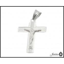 SREBRNY p. 925 Krzyżyk z JEZUSEM 20 x 24 mm
