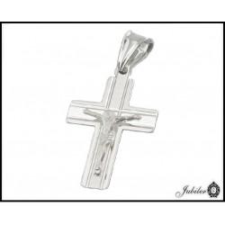 SREBRNY p. 925 Krzyżyk z JEZUSEM 19x27 mm  7604930130