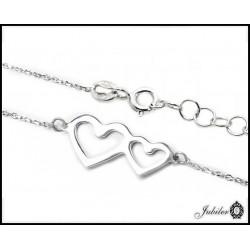 Srebrny naszyjnik - celebrytka - serce (24239)