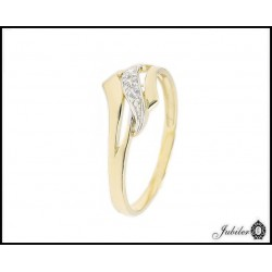 ZŁOTY p.585 (14K) pierścionek z CYRKONIAMI roz.17  7662727466
