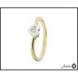 ZŁOTY pierścionek z CYRKONIĄ roz.15 p.585 (14K)  7040436678