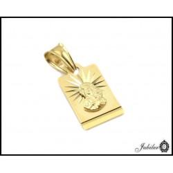 Piękny ZŁOTY medalik diamentowany Matka Boska 585 33267