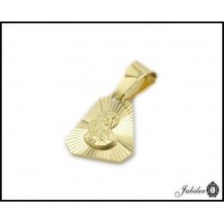 Piękny ZŁOTY medalik Matka Boska diamentowana 585   33277