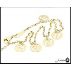 Złota bransoletka na kostkę (05018)