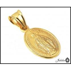 Piękny ZŁOTY medalik Matka Boska próba 585  7896972651