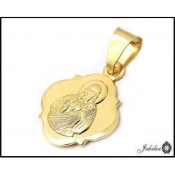 ZŁOTY 14K p.585 medalik z JEZUSEM - szkaplerz   7904996879