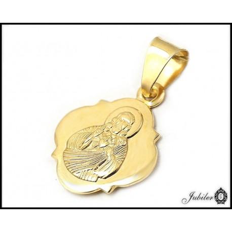 ZŁOTY 14K p.585 medalik z JEZUSEM - szkaplerz   7904883296