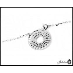 Srebrny naszyjnik - dwa serca zdobione cyrkoniami