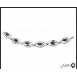 Piękna bransoletka - srebro + jadeity
