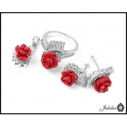 Silver set Hurrem - pendant and earrings (27914)