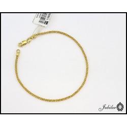 Złota bransoleta o pięknym splocie - próba 585 (7251895940)