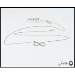 Srebrny naszyjnik - nieskończoność zdobiona cyrkoniami