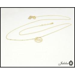 Złoty naszyjnik - celebrykta - nieskończoność w kole
