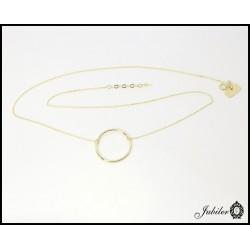 ZŁOTY naszyjnik celebrytka - duży ring, pierścień 6996765476