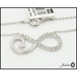 Srebrny naszyjnik - nieskończoność (25093)