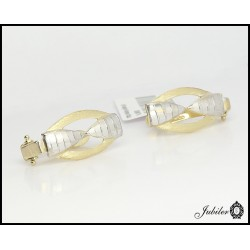Złote KOLCZYKI zdobione Rodowaniem angielskie p585 (7426996451)