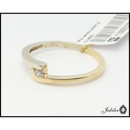 Złoty pierścionek z brylantem (26308)
