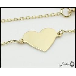 Gold necklace - celebrytka- heart (27163)