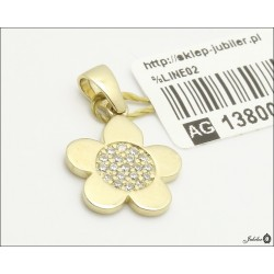 Złota zawieszka kwiat (27833)
