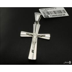 Rodowany srebrny krzyżyk (30636) GKD051
