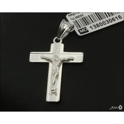 Rodowany srebrny krzyżyk (30616) GKD033