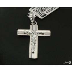 Rodowany srebrny krzyżyk (30678) KC128
