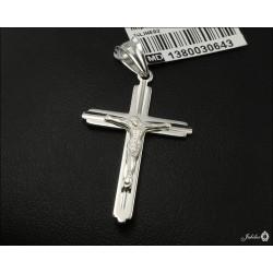 Rodowany srebrny krzyżyk (30647) GKD036