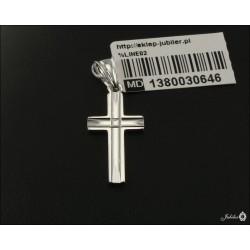 Rodowany srebrny krzyżyk (30646) GKD047