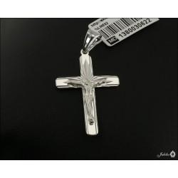 Rodowany srebrny krzyżyk (30622) GKD055