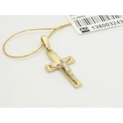 Piękny złoty krzyżyk p.585 (14K)  7046001254