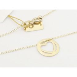 Złoty naszyjnik celebrytka - serce (25004)